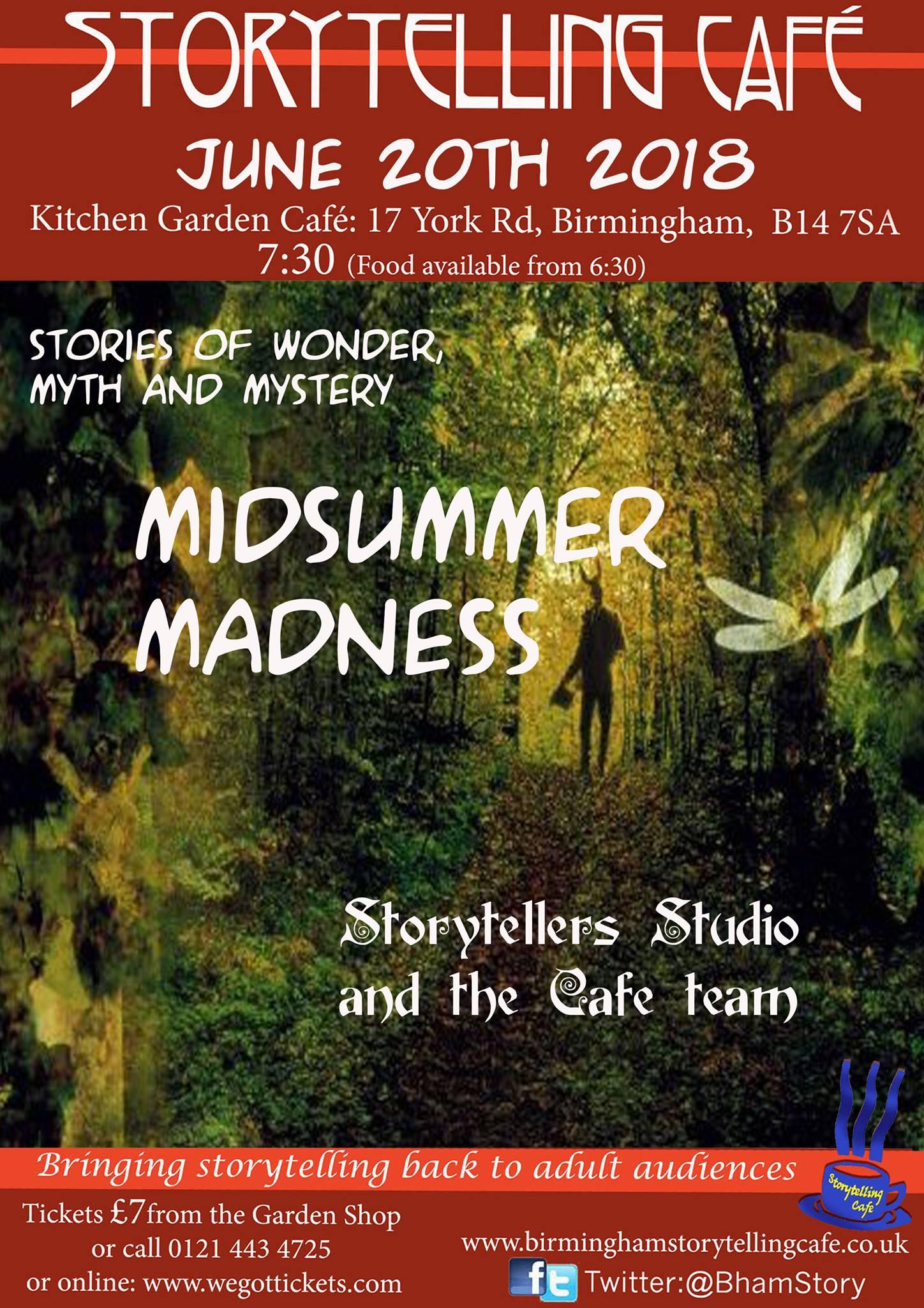 Midsummer Enchantment Birmingham Storytelling Caf E The Society
